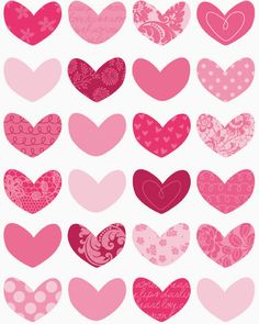 hearts - print, get Nicole to cut out