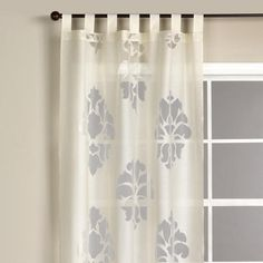 One of my favorite discoveries at WorldMarket.com: Ivory Damask Burnout Sheer Curtain