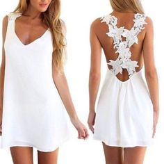 Cameron Diaz sexy summer mini dress Summer sexy casual party evening cocktail short mini beach dress. Cris Cross lace in back., when ordering go up one size that you usually take. This dress is cut small Dresses Mini