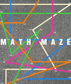 Hands-on math activity: Have kids practice measurement by creating their own mazes using brightly colored tape.