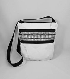 2111c05378e3 Sailcloth Crossbody Bag with Blue Anchor Lining