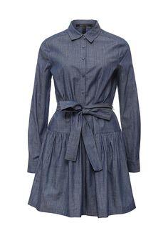 Платье джинсовое BCBGMaxAzria купить за 17 399 руб BC529EWONL75 в интернет-магазине Lamoda.ru