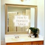 How to Frame a Mirror - very interesting that PVC framing from Home Depot was used on this job ... hmmm!