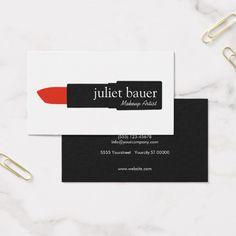Beleza branca simples do logotipo do batom do cartão de visitas