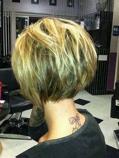 Image result for Short a Line Bob Hairstyles Back View
