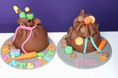 Workshop Zak van Sint www. Cupcakes, Fondant, Birthday Cake, Santa, Jute, Desserts, Om, December, Workshop