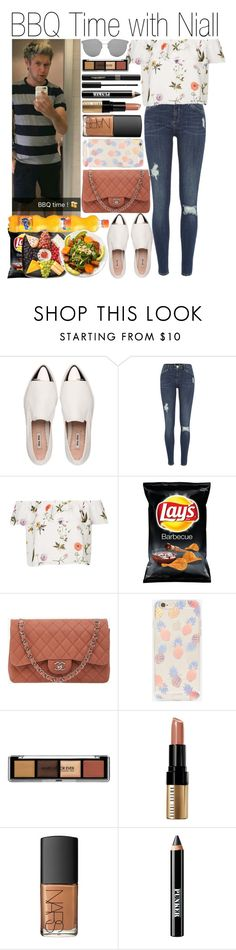 """• BBQ Time with Niall"" by dianasf ❤ liked on Polyvore featuring Miu Miu, River Island, Topshop, Chanel, Carlsberg, Sonix, Bobbi Brown Cosmetics, NARS Cosmetics, Ardency Inn and Napoleon Perdis"