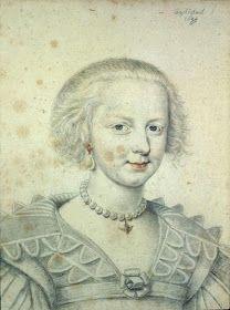 Marie Louise Gonzaga de Nevers. 1622 D.Dumoustier Reinette: Artists of the Dumonstier family