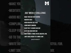 July Challenge Week #2 - Best Motivational Video