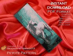 Peyote Pattern Bracelet Cuff Beading Miyuki Delica Size 11 Beads - PDF Download - Unicorn Forest
