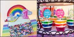 Creative 1st Birthday Themes | Colorful cookies and rainbow cupcakes …..adore!