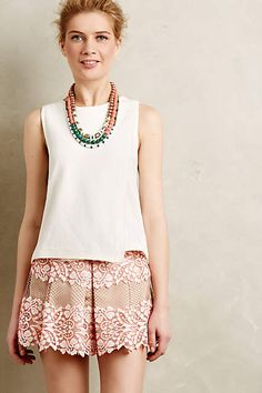 Tracey Reese Pheobe skirted shorts Bottoms Clothing | Anthropologie