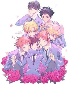 Ouran High School Host Club #Anime (i love this picture so much XD. )
