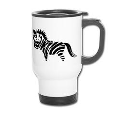 Geliebtes Zebra..:) ZEBRA,Gestreift #Zebra #Zebra_Shirts #Zebra_Shirtz Zebra Motive #Zebramotive #Zebradesigns,Zebra Designs #Streifenmuster, schwarz-weiss-gestreift,Wildpferde, Natur, Tigerpferde, Ungezähmtheit, Freiheit, Wildzebra,Krafttier #Thermobecher #Geschenkidee