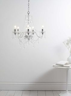 Bryony 5 Light Chandelier, Chrome - All Home & Lighting Sale - Sale & Offers - BHS