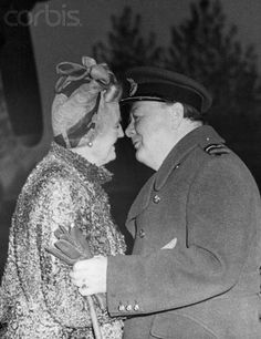 Winston and Clementine Churchill Kissing  October 31, 1944