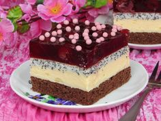 Wiosenne ciasto Cherry Sweet Recipes, Cake Recipes, Cupcake Images, Polish Recipes, Food Cakes, Homemade Cakes, Confectionery, Yummy Cakes, Sweet Tooth
