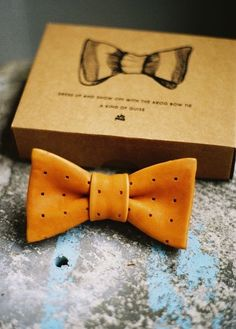 leather bowtie