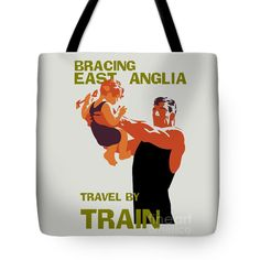 "East Anglia by train Tote Bag 18"" x 18"" by Aapshop"