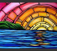 Surf art by Heather Brown - Original paintings & prints - waves, ocean, surf… Art Surf, Heather Brown Art, Art Vampire, Vampire Knight, Image New, Posca Art, Hawaiian Art, Hawaiian Sunset, Sun Art