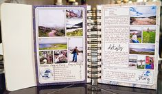 travel mini. I adore this template for an entire mini album. This would make it so easy for putting together an album really quickly. And you could easily update the text each day of your trip!