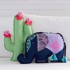 awesome PB Teen Cactus Shaped Pillow by - Dutchman Cute Pillows, Diy Pillows, Decorative Pillows, Cushions, Throw Pillows, Pb Teen, Home Decor Accessories, Decorative Accessories, Elephant Throw Pillow