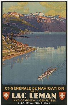 Cie Générale de Navigation sur le Lac Léman Johannes Emil Muller 1927