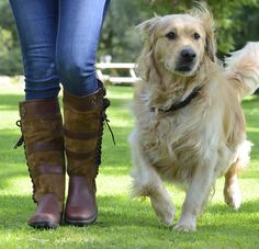 The Yew full grain leather and suede waterproof country boot. Available in Regular and Wider calf fittings. From £144.95