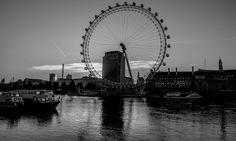 The London Eye B+W by julian john, via 500px