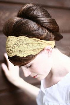 Updo With Lace Hairband