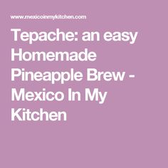 Tepache: an easy Homemade Pineapple Brew - Mexico In My Kitchen