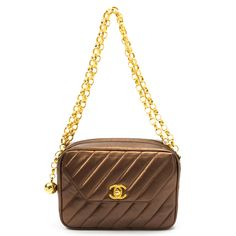 Chanel Chain Handbag In Bronze