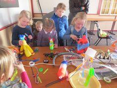 workshop plastic Aliens of robots maken voor Participe Wij Kids nin Alphen aan den Rijn