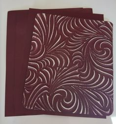 Burgundy craft metal.  Hand and Machine emboss.  Available in different sizes at www.creaticcastudio.co.za