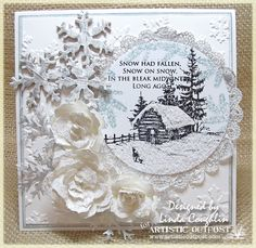Wonderful sense of wintry dimension. #cards #card_making #Christmas