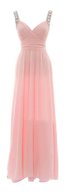 Petal pink maxi dress ,Prom Gown With Straps Beaded Petal Pink Maxi Prom Dress Backless Dresses