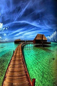 Awesome View of Bora Bora, Tahiti