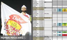 Match schedule @Mumbai Match Schedule, Republic Day, Mumbai, Bombay Cat