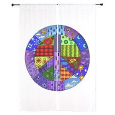 Shop Curtains from CafePress. Great designs on professionally printed on beautiful sheer chiffon curtains. Hippie Peace, Hippie Love, Hippie Chick, Hippie Art, Hippie Style, Peace Love Happiness, Peace And Love, Perfect Peace, Peace Sign Art