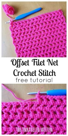 Easy Crochet Patterns Learn to crochet the Offset Filet Net stitch! This easy stitch is made entirely of chain and double crochet stitches, which makes it very beginner friendly. Great for your next wrap, shawl, scarf or cowl project! Crochet Afghans, Easy Crochet Stitches, Crochet Simple, Stitch Crochet, Tunisian Crochet, Easy Crochet Patterns, Filet Crochet, Crochet Ideas, Crochet Stitches For Beginners