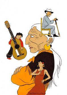 Ilustración, Seisdedos, Flamenco, Sacromonte, Granada