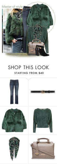 """Master of style"" by fashion-architect-style ❤ liked on Polyvore featuring JULIANNE, Silver Jeans Co., Gucci, Topshop, BeckSöndergaard, Carvela Kurt Geiger, See by Chloé, women's clothing, women and female"