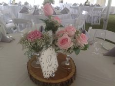 The centerpiece so for an Endicott Estate Wedding Very pretty