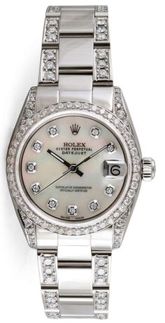 - Item Number: MIDDJSSMOPDBBLB - Brand: Rolex - Style Number: 68240 - Series: Datejust - Gender: Mens - Case Material: Stainless Steel - Case Diameter: 31mm - Dial Color/Diamond Quality: White Mother-