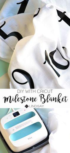 DIY Milestone Baby Blanket using your Cricut - seeLINDSAY