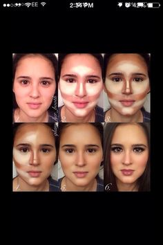 Tina- this is what I was talking about with contouring make up!
