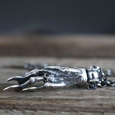 Sterling Silver Squirrel Paw Pendant - Squirrel pendant - silver Squirrel necklace - Squirrel necklace - taxidermy jewellery