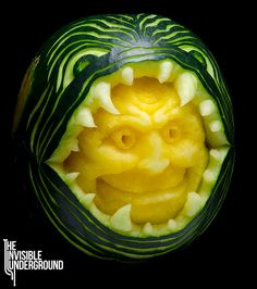 Gallery | The Invisible Underground | Fruit Carving & Vegetable Sculpture
