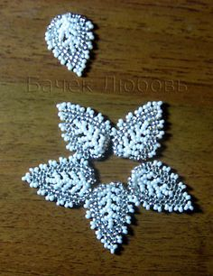 Another tute for russian leaves. No words, just pictures. Easy to follow. #seed #bead #tutorial