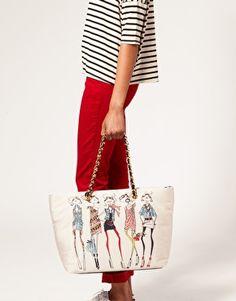 heart this love moschino bag